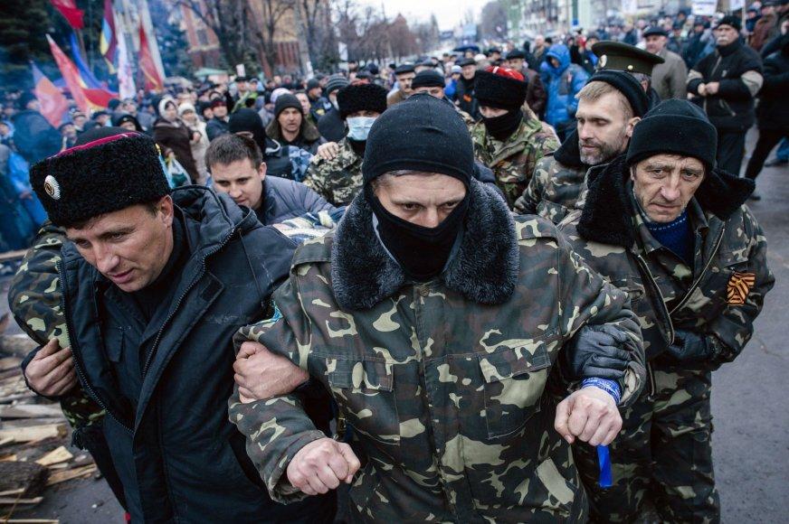 Prorusiški separatistai Lugansko mieste