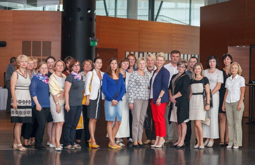 O. Bložienė su mokytojais iš Vilniaus