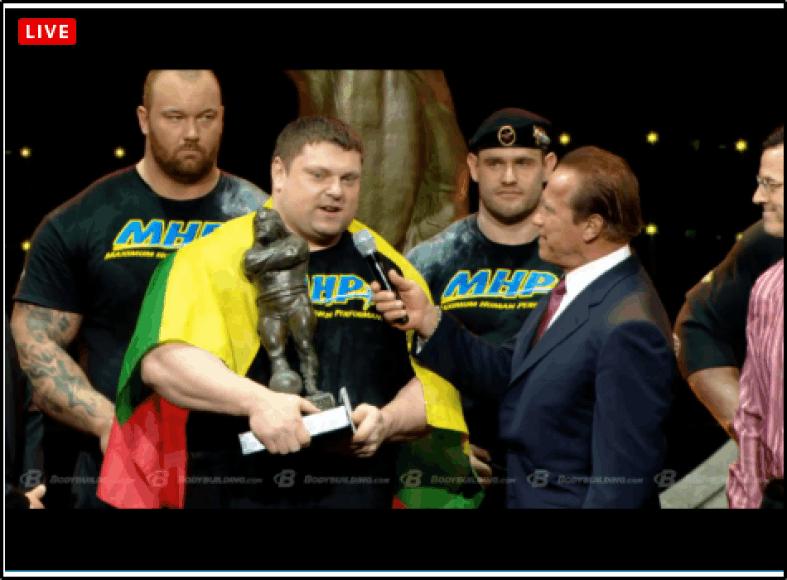 Žydrūnas Savickas ir Arnoldas Schwarzeneggeris