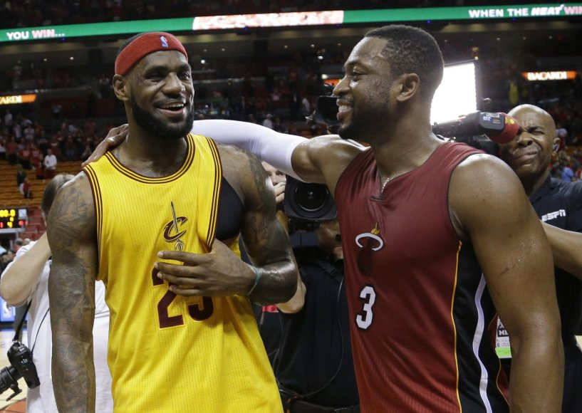LeBronas Jamesas ir Dwayne'as Wade'as