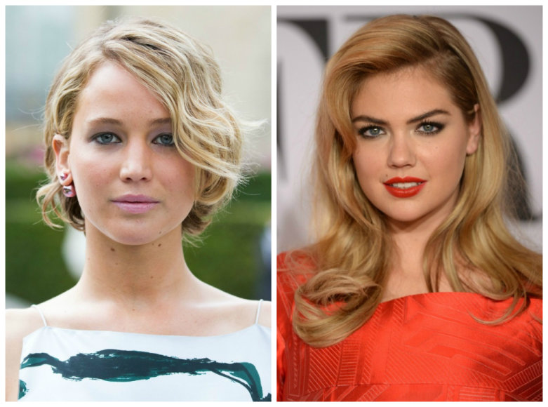 Jennifer Lawrence ir Kate Upton