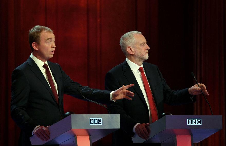 Timas Farronas ir Jeremy Corbynas