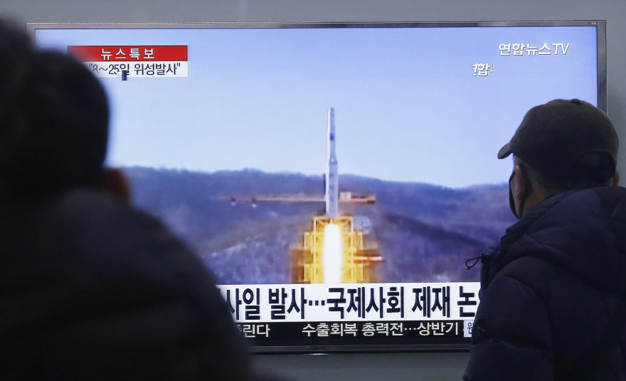 Šiaurės Korėjos raketos startas