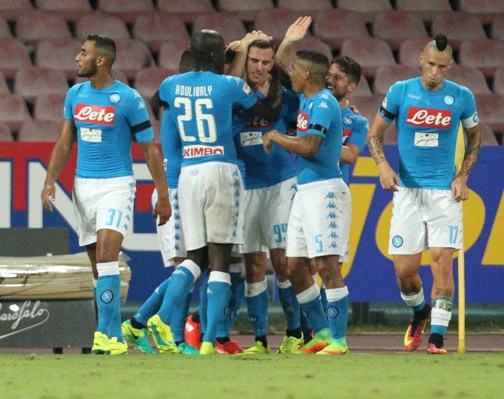 """AFP/""""Scanpix"""" nuotr./""""Napoli"""" pasiekė pirmąją pergalę"""