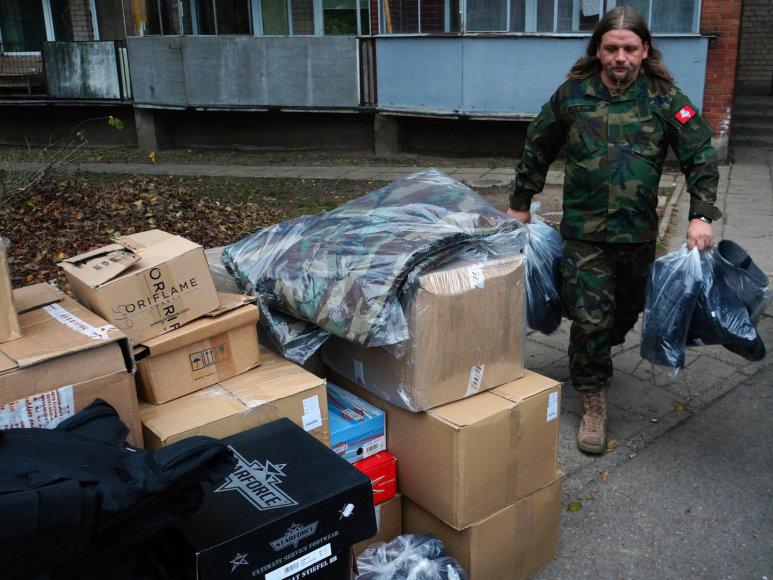 Iš Kauno iškeliavo siunta Ukrainos kariams