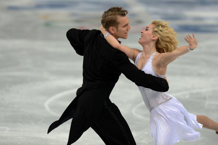 Deividas Stagniūnas ir Isabella Tobias startavo Sočio olimpiadoje