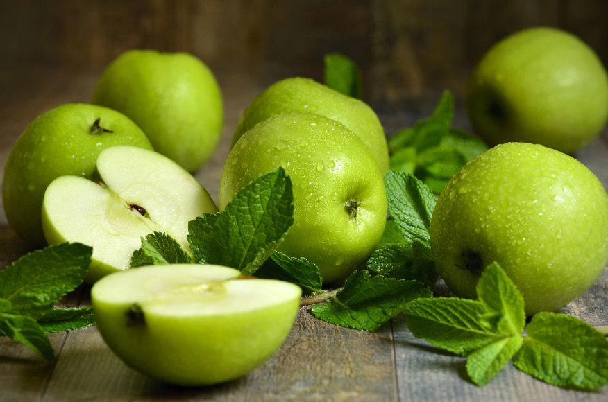 Fotolia nuotr./Žali obuoliai
