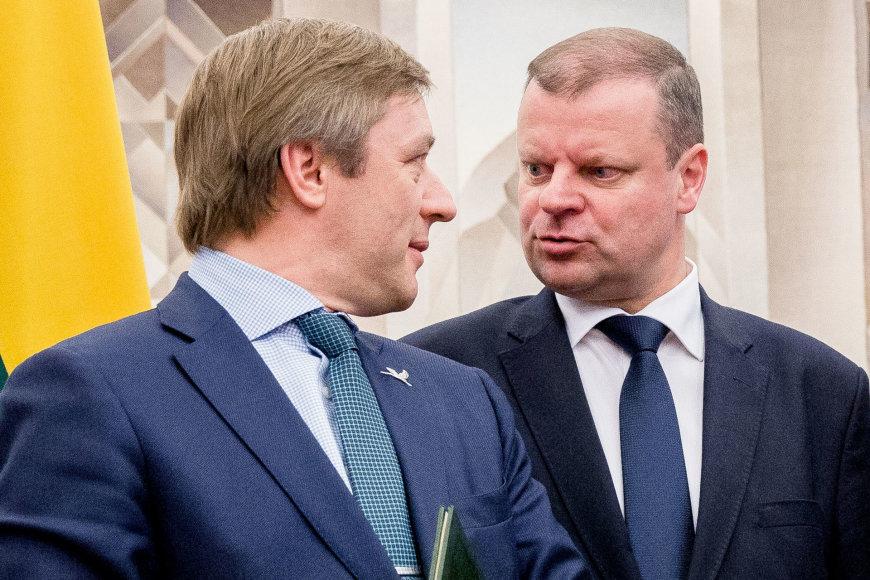 Ramūnas Karbauskis ir Saulius Skverneis
