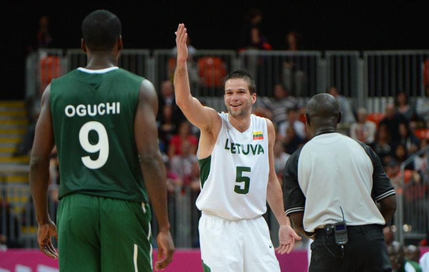 """""""Scanpix"""" nuotr./Lietuva – Nigerija 2012-ųjų olimpinėse žaidynėse"""