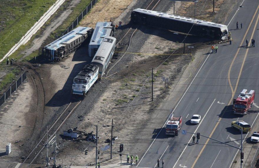 Traukinio avarija Kalifornijoje