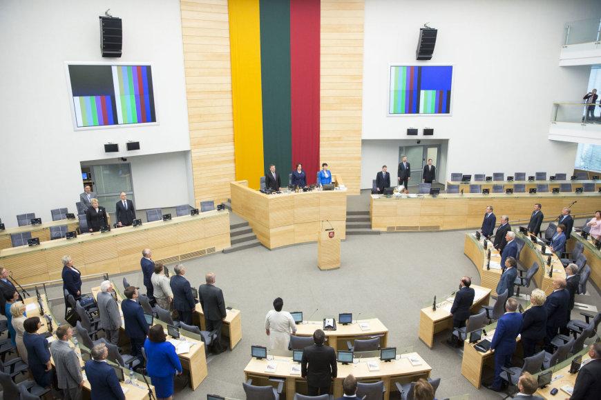 Šios kadencijos Seimas susirinko į paskutinę sesiją