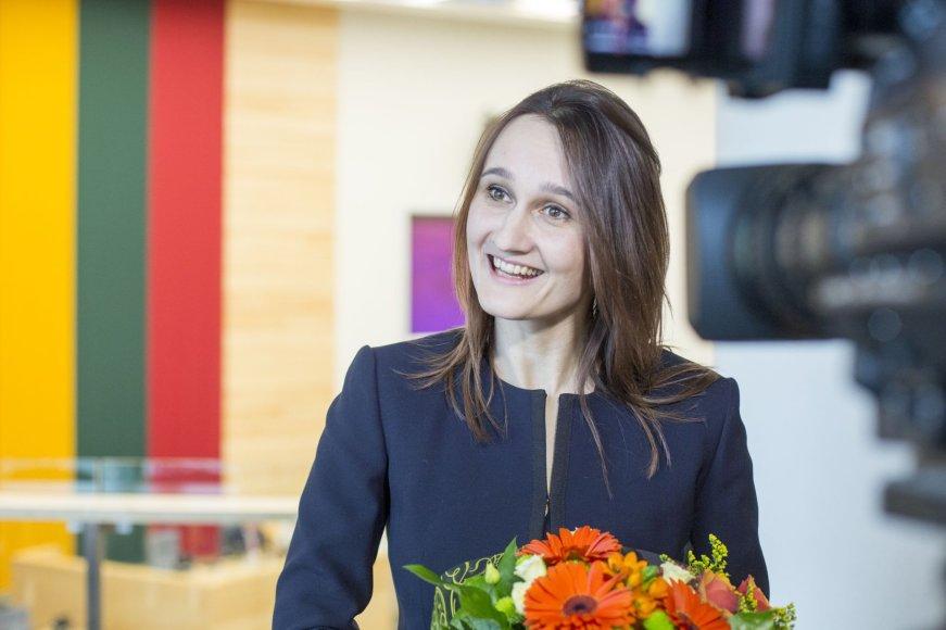 Prisiekė nauja Seimo narė šachmatininkė V.Čmilytė-Nielsen
