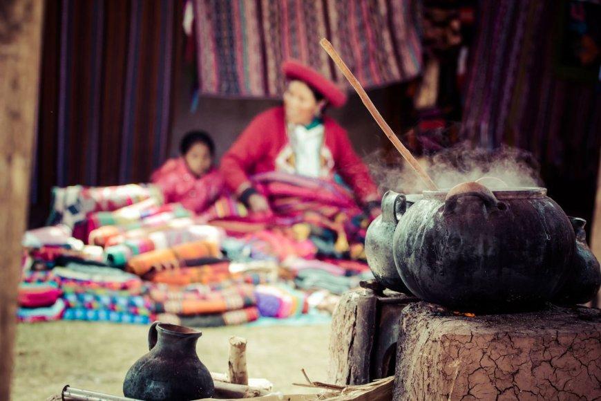 Žmonės Peru dairosi šamanų