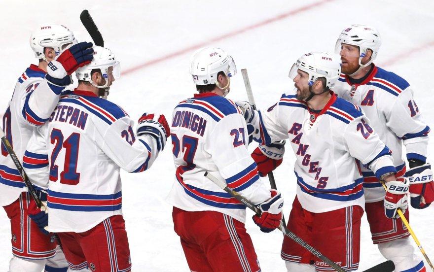 """""""Rangers"""" švenčia pirmą pergalę konferencijos finale"""