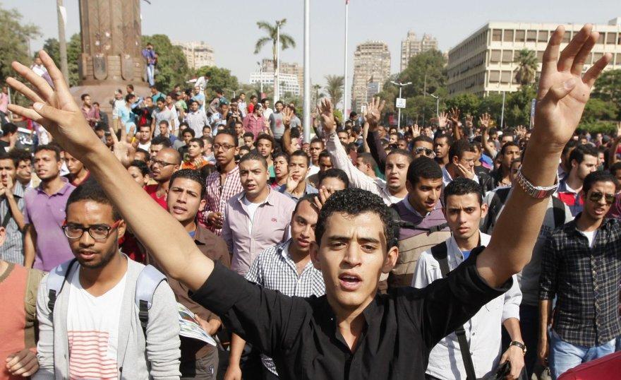 Protestuojantys studentai