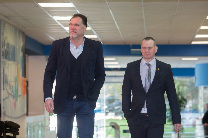 Avydas Sabonis ir Mindaugas Špokas