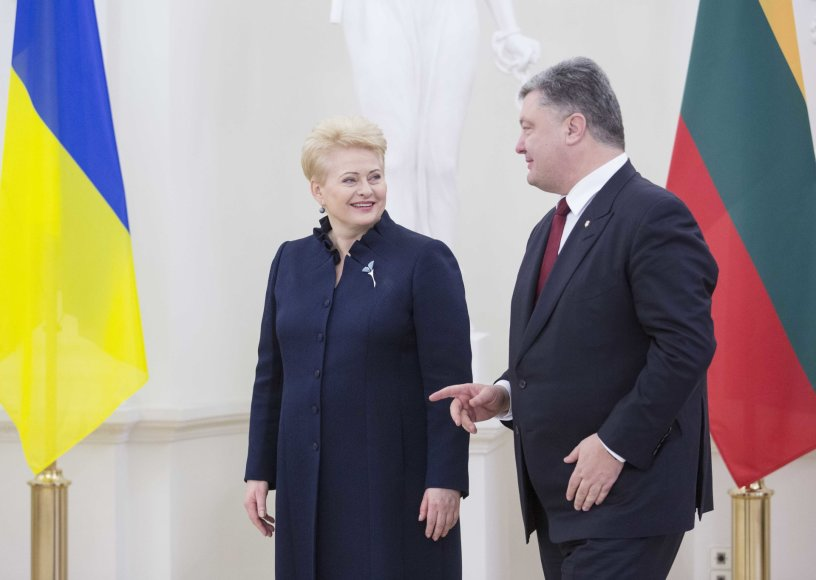 Dalia Grybauskaitė ir Petro Porošenka