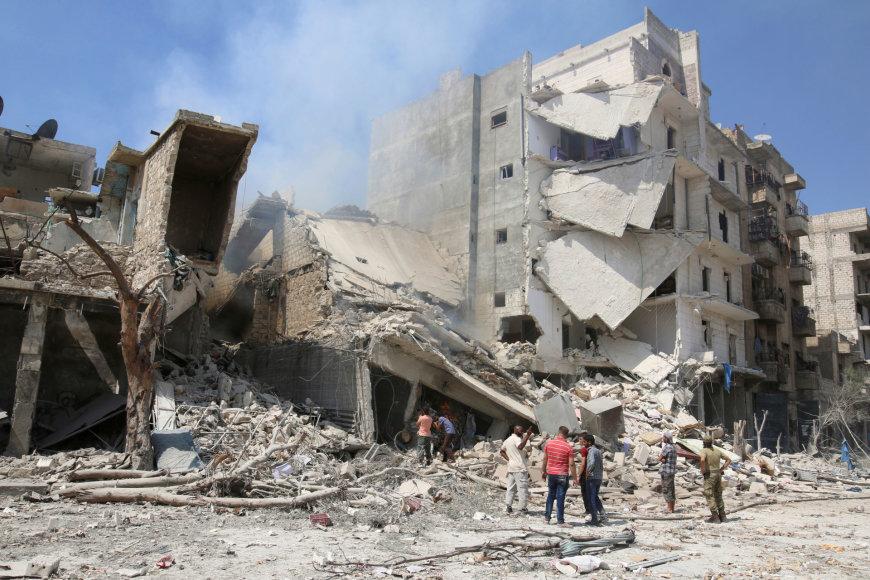 Bombardavimo vieta Alepe
