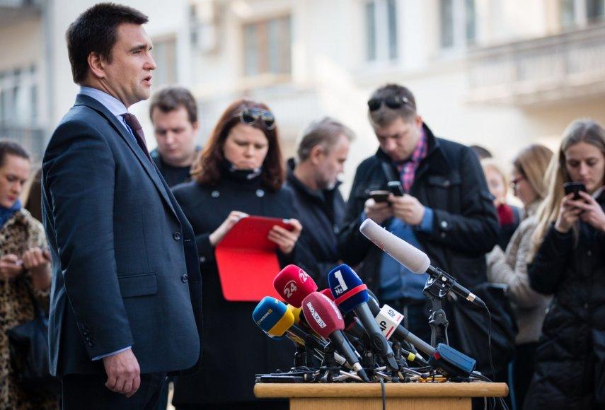 Ukrainos užsienio reikalų ministras Pavlo Klimkinas.