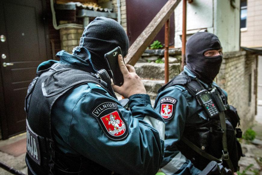 Vilniaus mobiliosios kuopos pareigūnai sulaiko narkotikų prekeivius