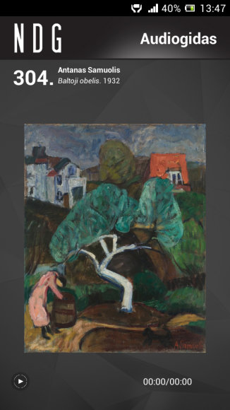Nacionalinės Dailės galerijos audiogido vaizdas