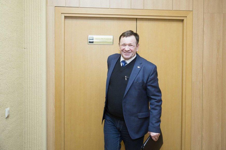 Kęstutis Pūkas po pokalbio su Seimo pirmininku Viktoru Pranckiečiu