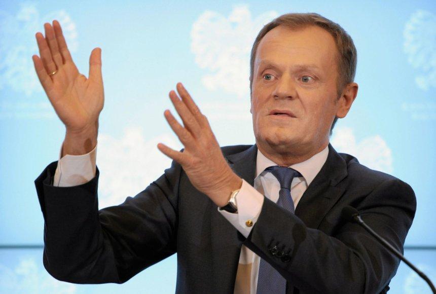 Lenkijos premjeras Donaldas Tuskas