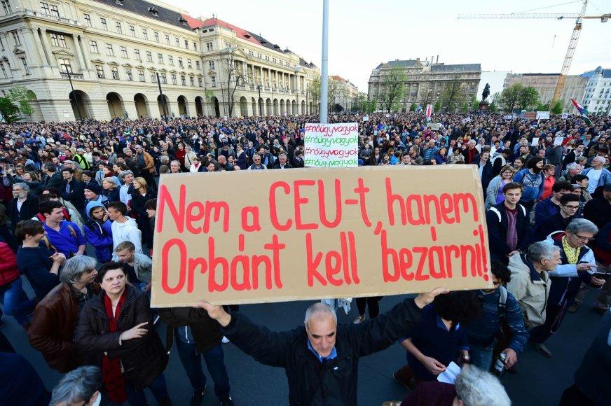Vengrijos valdžia spaudžia Vidurio Europos Universitetą Budapešte