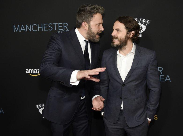 "Benas Affleckas ir Casey Affleckas filmo ""Mančesteris prie jūros"" premjeroje"
