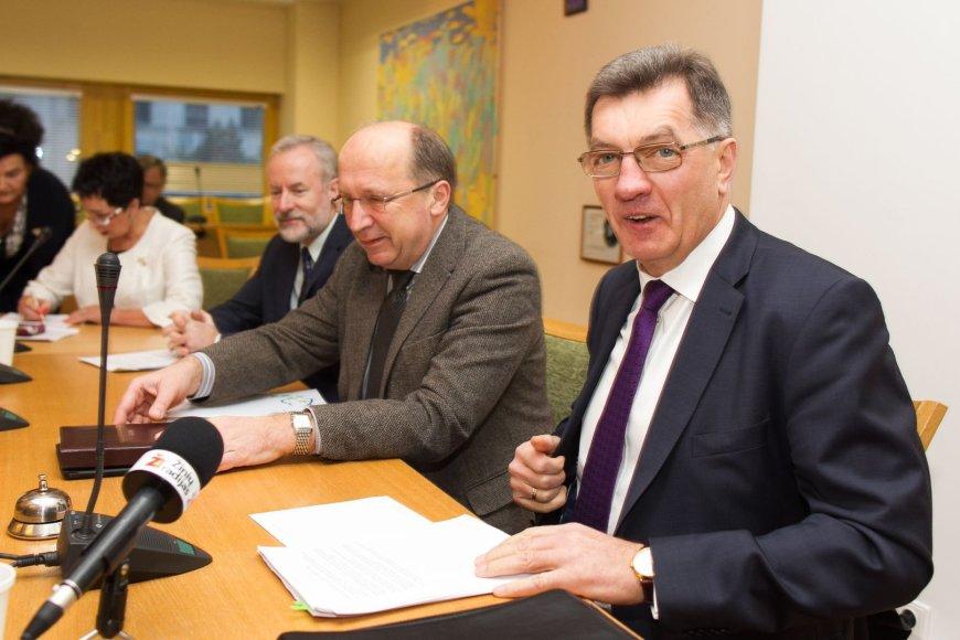 Algirdas Butkevičius dalyvauja TS-LKD frakcijos posėdyje