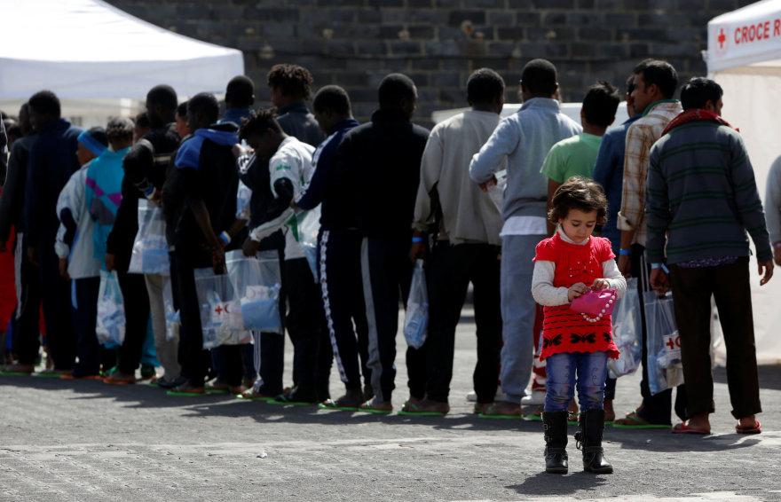 Migrantai Italijoje