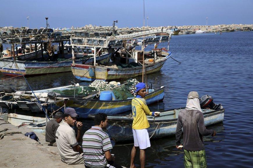 Žvejai Gazos ruožo pakrantėje
