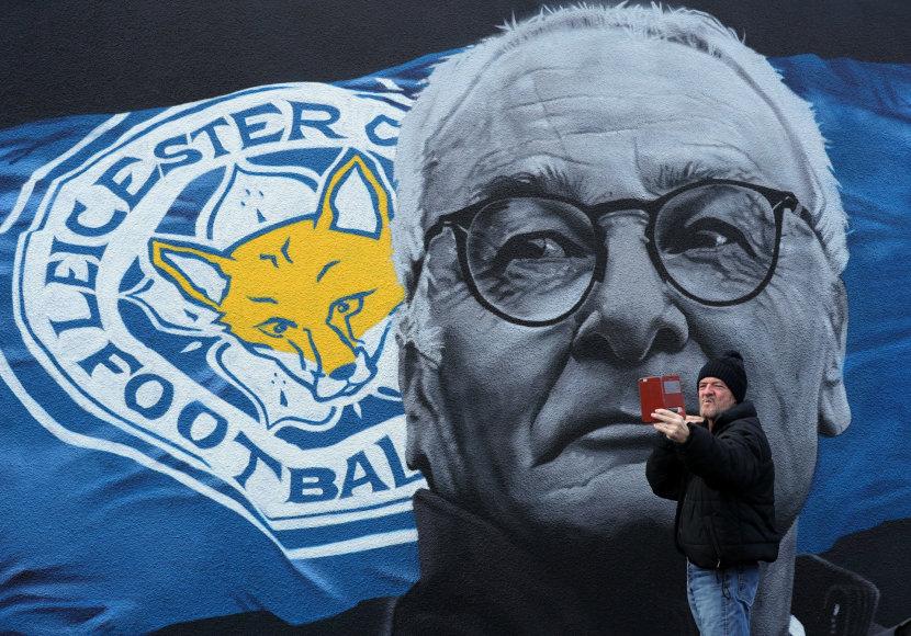 Claudio Ranieri skirta freska Lesteryje