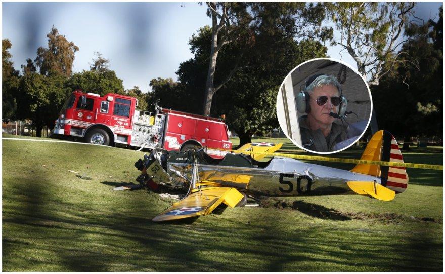 Sudužo aktoriaus Harrisono Fordo lėktuvas