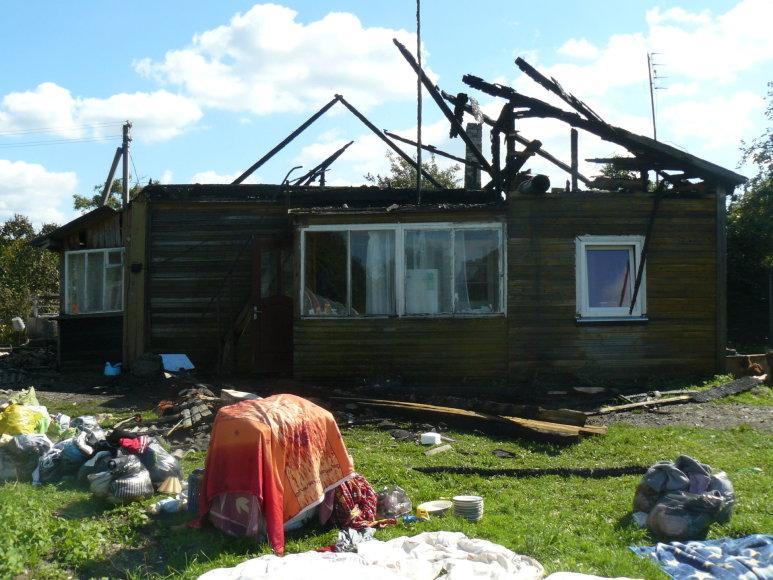 Jonavos rajone degė gyvenamasis namas