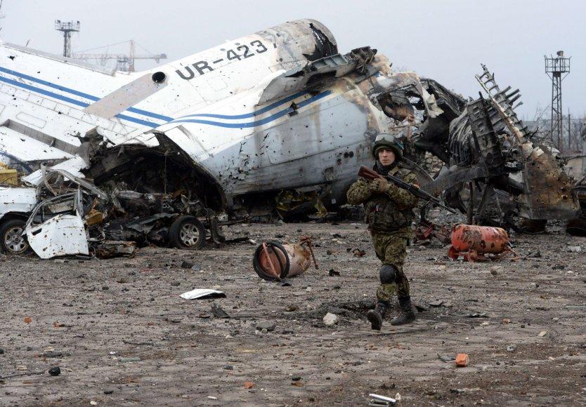 Sunaikintas Donecko oro uostas