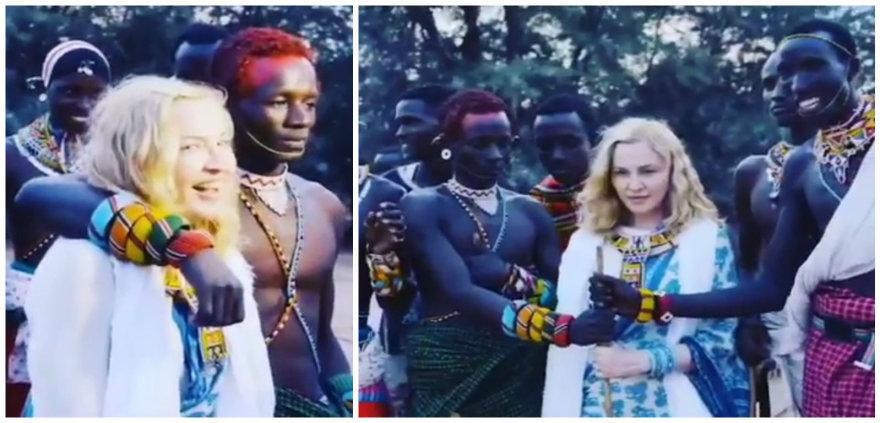 Madonnos viešnagė Kenijoje