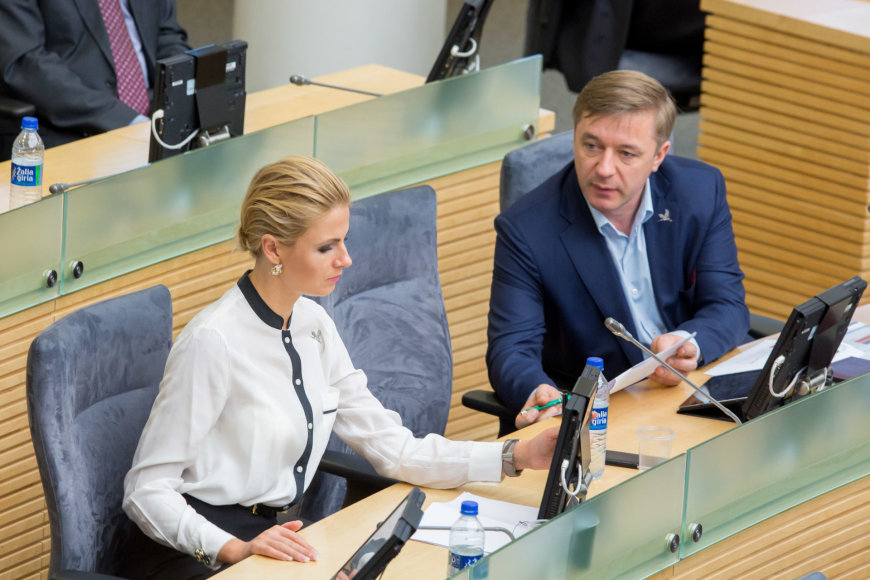 Greta Kildišienė ir Ramūnas Karbauskis