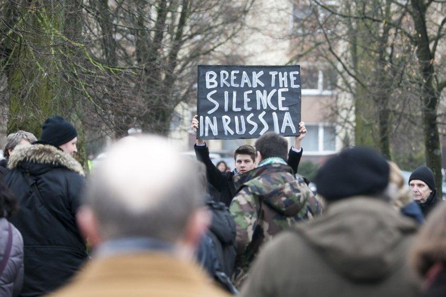 Lietuviai pagerbė Boriso Nemcovo atminimą