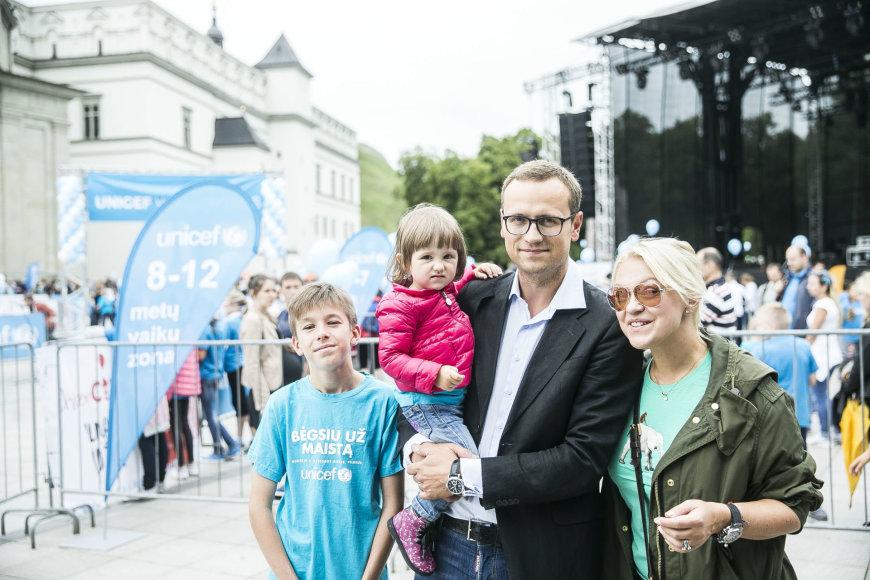 Viganto Ovadnevo/Žmonės.lt nuotr./UNICEF vaikų bėgimo akimirka