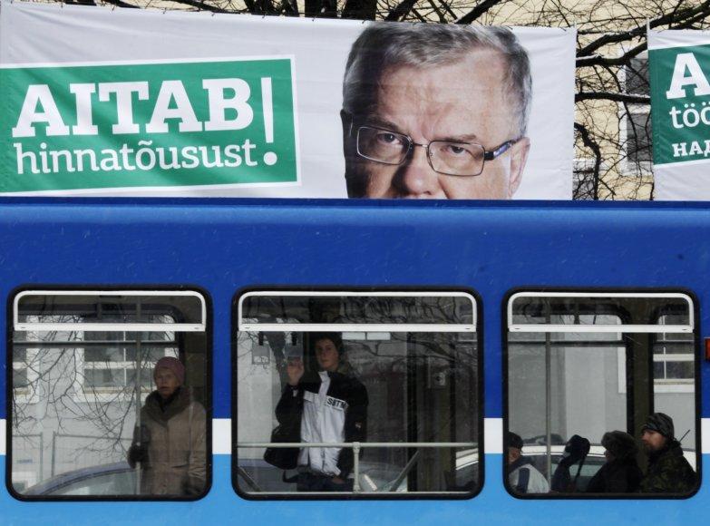 E.Savisaaro politinė reklama Taline.