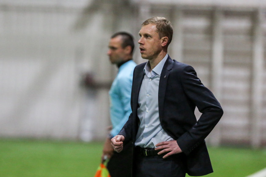 """""""Trakų"""" treneris Olegas Vasilenka"""