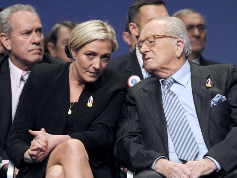Marine Le Pen su tėvu Jean-Marie Le Penu.