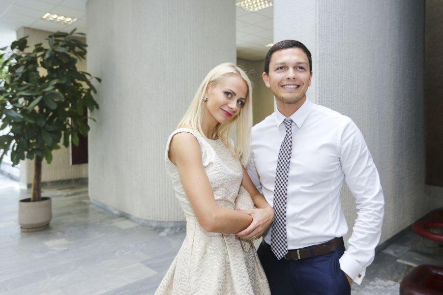 Deividas Bastys su žmona Agne