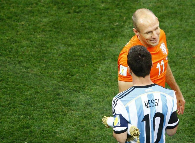 Lionelis Messi ir Arjenas Robbenas