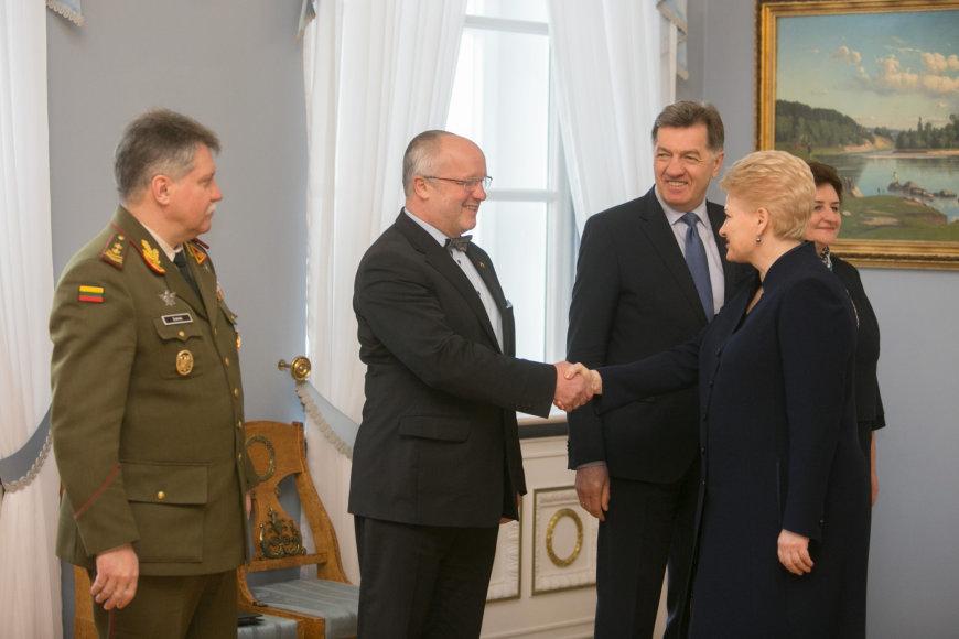 Dalia Grybauskaitė ir Juozas Olekas