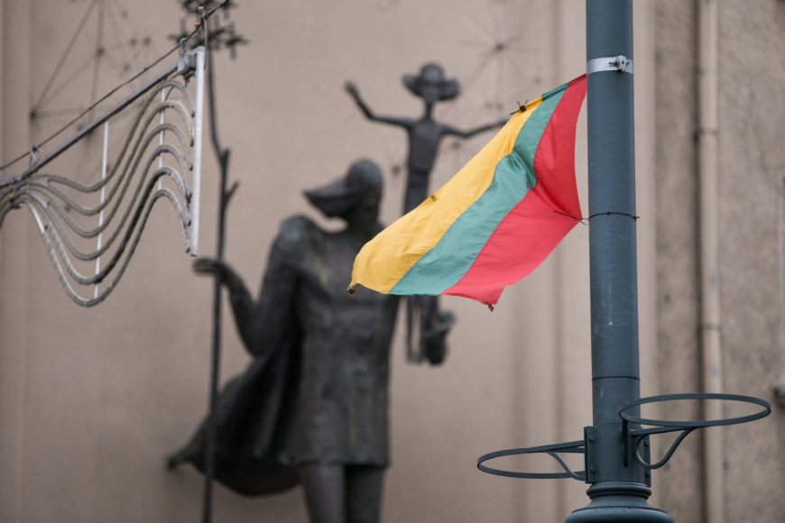 Iškilminga trijų Baltijos valstybių vėliavų pakėlimo ceremonija