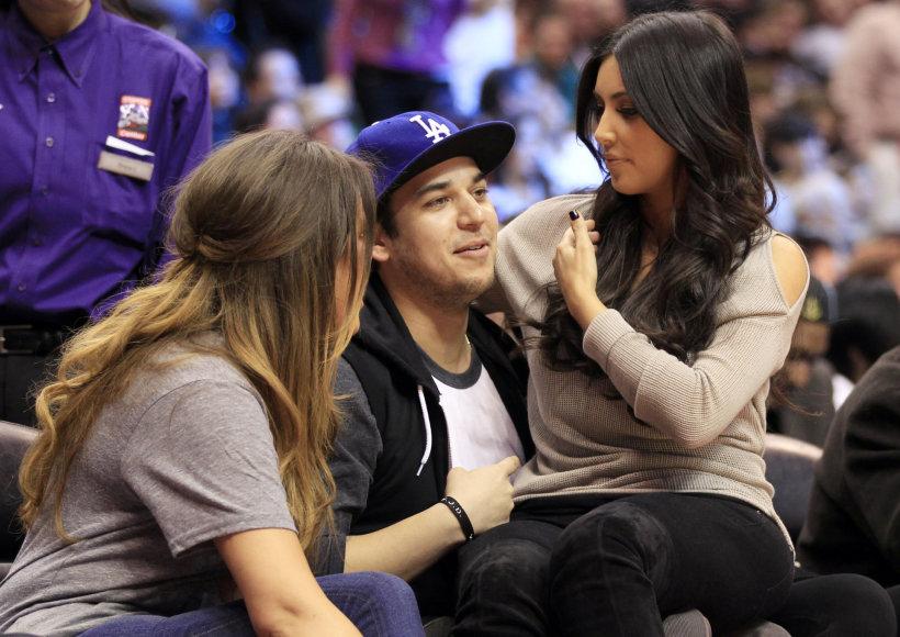 Kim Kardashian ir jos brolis Robertas Kardashianas