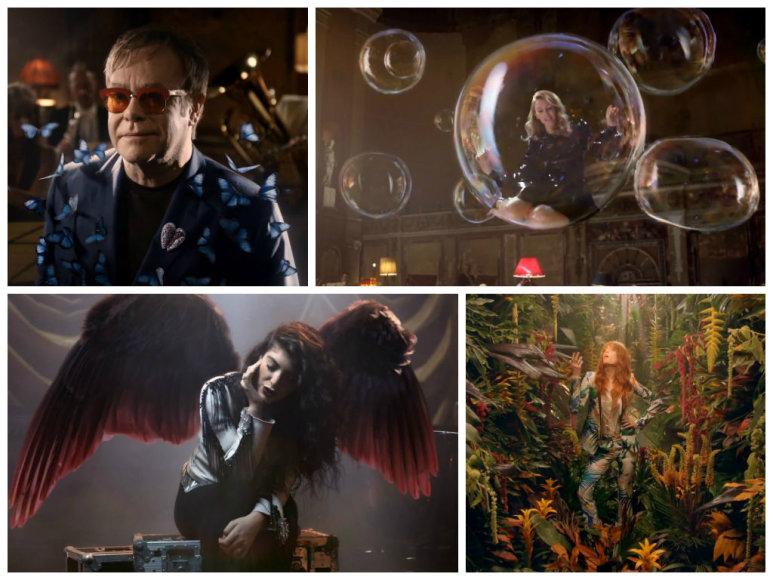 Eltonas Johnas, Kylie Minogue, Lorde ir Florence Welch