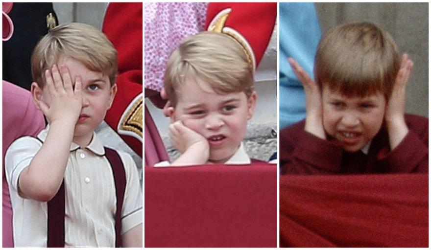 Princas George'as ir jo tėtis princas Williamas vaikystėje
